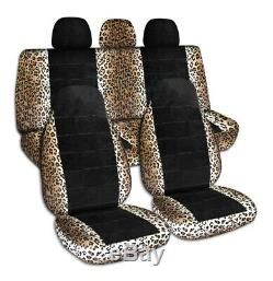 Animal Print & Black Car Seat Covers for ANY Car/Truck/Van/SUV/Jeep Full Set