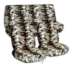 Animal Print Car Seat Covers for ANY Car/Truck/Van/SUV/Jeep Full Set Front Rear