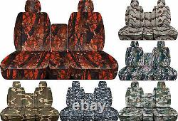 CC Camouflage 40-20-40 seat cover fits Ram trucks 2011-2018 front + rear