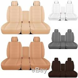 CC solid color 40-20-40 car seat covers fits Ram trucks 2011-2017