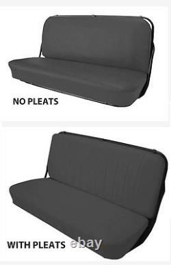 CHEVROLET TRUCK FRONT BENCH SEAT COVERS, FACTORY REPLACEMENT 1947-54 (pleated)