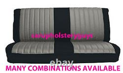CHEVROLET TRUCK FRONT BENCH SEAT COVERS (two fabric) FACTORY REPLACEMENT 1973-80