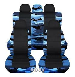 Camo & Black Car Seat Covers for ANY Car/Truck/Van/SUV/Jeep Full Set Front Rear