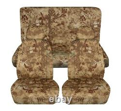 Camouflage Car Seat Covers for ANY Car/Truck/Van/SUV/Jeep Full Set Front & Rear