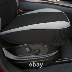 Car SUV Truck Leatherette Seat Covers Front Bucket Gray with Dash Mat For Car