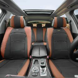 Car SUV Truck Leatherette Seat Cushion Covers 5 Seat Full Set Seats Black Brown