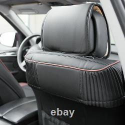 Car SUV Truck Leatherette Seat Cushion Covers Front Bucket Seats Black Brown