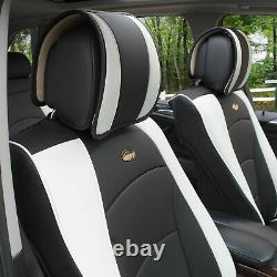 Car SUV Truck Leatherette Seat Cushion Covers Front Bucket Seats Black Pink