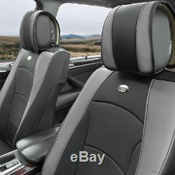 Car SUV Truck Leatherette Seat Cushion Covers Front Bucket Seats Gray For Auto