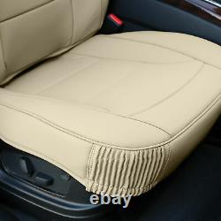 Car SUV Truck Leatherette Seat Cushion Covers Full Set Beige