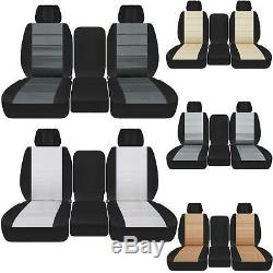 Car seat covers 40-20-40 seats cotton two tone fits Dodge Ram trucks 2011-2018