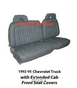 Chevrolet Truck Extended Cab Truck Factory Replacement Front Seat Covers 1992-95