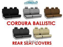 Coverking Cordura Ballistic Custom Fit Rear Seat Covers for Ram Truck