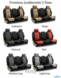 Coverking Custom Front and Rear Seat Covers For Toyota Truck SUVs