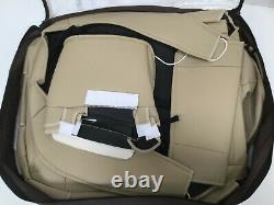 Custom Fit PU Leather Seat Cover Tan OASIS AUTO 2015-2020 F150 F250 F350 Truck