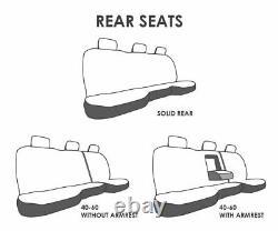 Custom Truck Seat Covers 2009-2011 Dodge Ram Black Steel Grey Personalized ABF