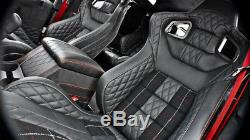 Defender 90 Chelsea Truck Co. Leather Interior Front Sports Seats Fits 1990