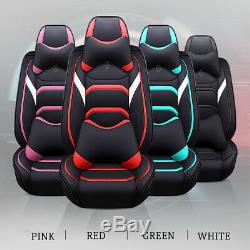 Deluxe Breathable Leather Car Seat Cover Protector Truck Chair Cushion Pad Set