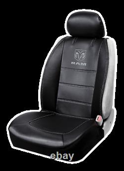 Dodge Ram Logo Deluxe Premium 3-Piece Sideless Seat Cover Car/SUV/Truck