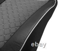 Eco Leather Truck Seat Covers for DAF XF 106 Euro 6 Grey color 2pcs