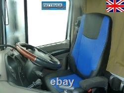 Fit Daf Xf 106 Cf Euro 6 Pair Of Truck Seat Covers Eco Leather Black And Blue
