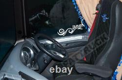 Fit Daf Xf 106 Cf Euro 6 Pair Of Truck Seat Covers Eco Leather Pair Of Black