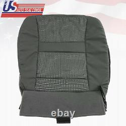 Fits 2007-10 Dodge Ram Truck 1500 Passenger Bottom Cloth Seat Cover in Gray