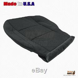 Fits 2008 2009 Nissan Titan Truck Front Driver Bottom Cloth Seat Cover Black