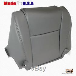 For 2007 2008 2009 Toyota Tundra WORK TRUCK Driver Bottom Vinyl Seat Cover GRAY