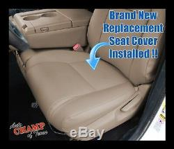 For 2007-2013 Toyota Tundra Work Truck Driver Side Bottom Vinyl Seat Cover Tan