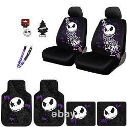 For Kia Jack Skellington Car Truck SUV Seat Covers Floor Mats Gift Set