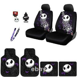 For Nissan Jack Skellington Car Truck SUV Seat Covers Floor Mats Gift Set