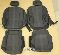 Ford Truck Crew Cab Black Cloth OEM Factory Seat Covers Take Off 2017 Super Duty