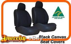 Front Black Canvas Seat Covers for FH Truck High Back 9400