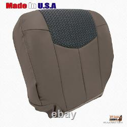 Front Driver Lower Seat Cover Tan Leather/Cloth For 2002 Chevy Avalanche Truck