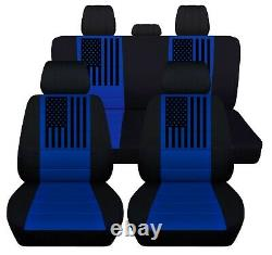Front Rear Truck Seat Covers Fits 2015 to 2020 Ford F150 American Flag Car Cover