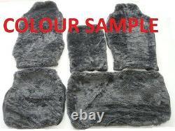 Front+rear Grey Fur Seat Cover (sheepskin Look) Mazda Truck Dual Cab T4000 1993