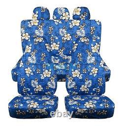Hawaiian Print Car Seat Covers for ANY Car/Truck/Van/SUV/Jeep Front + Rear Set