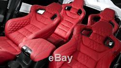 Jeep Wrangler Chelsea Truck Front & Rear Sports Seats- Fits 2007 2017