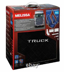 Melissa, Microfibre Truck Curtains And Seat Covers Set Black Lampa