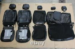 OEM Factory 17-22 SUPER DUTY Lariat Black Leather Seat Covers CREW CAB Truck