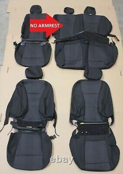 OEM Factory Black Cloth Seat Covers 2015-2020 F150 XLT Super Crew 4 Dr Cab Truck