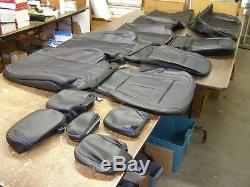 OEM Ford 2017 2018 F150 Truck Leather Seat Covers New S/C Set Black Interior nos