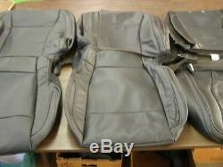 OEM Ford 2017 2018 F150 Truck Leather Seat Covers New T/O Set Black Interior nos