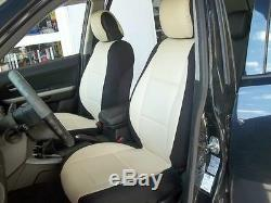 SELECT PICKUP TRUCKS TWO FRONT LEATHERETTE and SYNTHETIC CAR SEAT COVERS