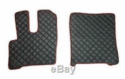 Set Seat Covers and Floor Mats DAF XF 106 Protectors BLACK RED Truck