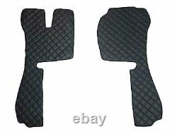 Set of Black FLOOR MATS plus PLUSH Seat Cover SCANIA R 2014 year AUTOMATIC Truck