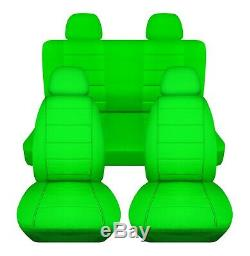 Solid Color Car Seat Covers for ANY Car/Truck/Van/SUV/Jeep Full Set Front & Rear