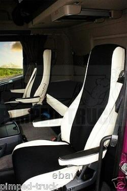 TRUCK SEAT COVERS Beige SCANIA R-series 2005-2013 ECO LEATHER 2 the same seats