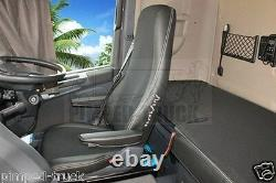 TRUCK SEAT COVERS Black SCANIA R/P/G 2005-2013 ECO LEATHER 2 the same seats